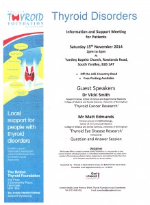 British Thyroid Foundation Nov Meeting
