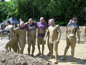 After the Mud Mile - looks like they all need a good shower!