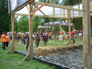Electroshock Therapy obstacle - and the finish line is in sight