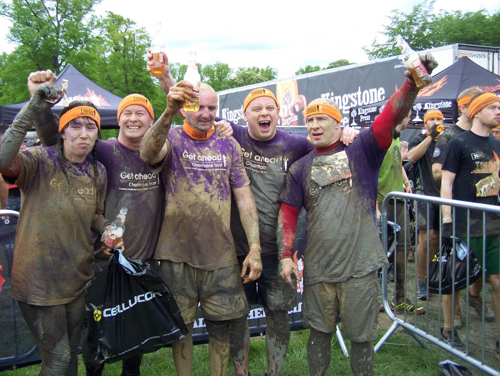 And the team celebrate at the finish of Tough Mudder 2015!!