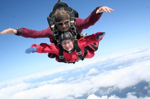 Katherine Carter - enjoying her skydive